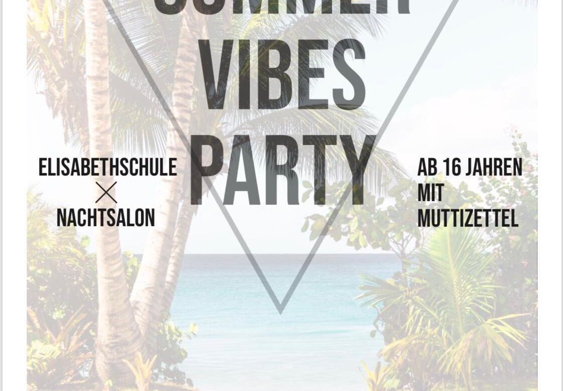 Summer Vibes Party der Elisabethschule