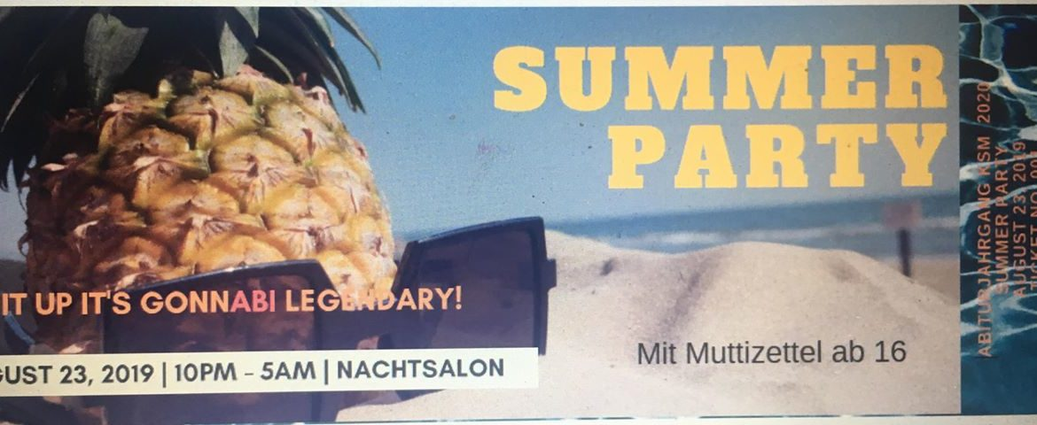 Summer Party - Abiparty der KSM