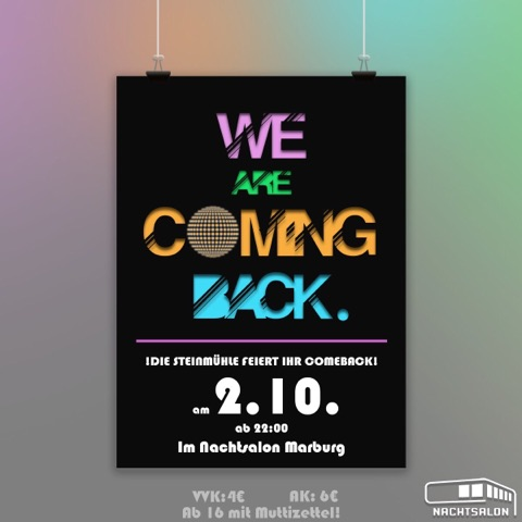 We are coming back - Abiparty der Steinmühle
