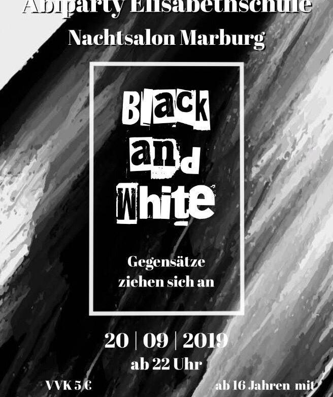 Black & White - Abiparty E-Schule